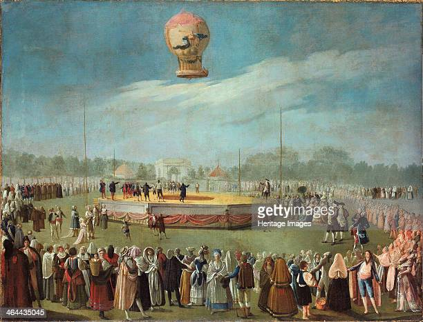 Ascent of a Balloon in the Presence of the Court of Charles IV ca 1783 Found in the collection of the Museo de Bellas Artes de Bilbao