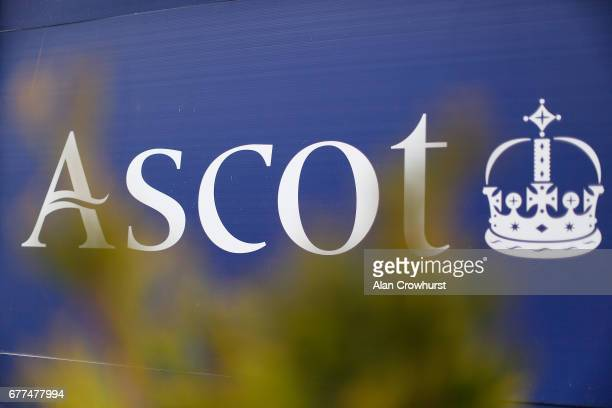 Ascot signage at Ascot Racecourse on May 3 2017 in Ascot England
