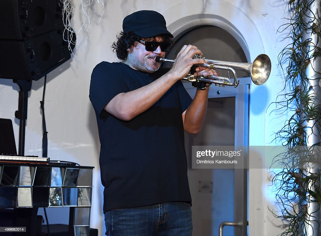 Asdru Sierra of Abstrakto performs at Chrome Hearts Celebrates Art Basel With Laduree Sean Kelly And A Live Performance By Abstrakto at Miami Design...