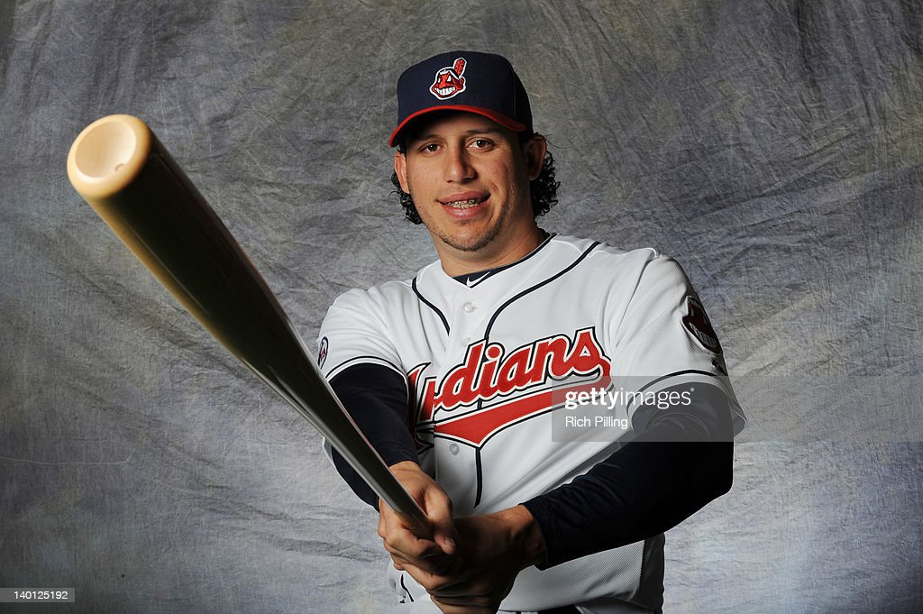 <a gi-track='captionPersonalityLinkClicked' href=/galleries/search?phrase=Asdrubal+Cabrera&family=editorial&specificpeople=834042 ng-click='$event.stopPropagation()'>Asdrubal Cabrera</a> #13 of the Cleveland Indians poses for a portrait during a photo day at Goodyear Ballpark on February 28, 2012 in Goodyear, Arizona.