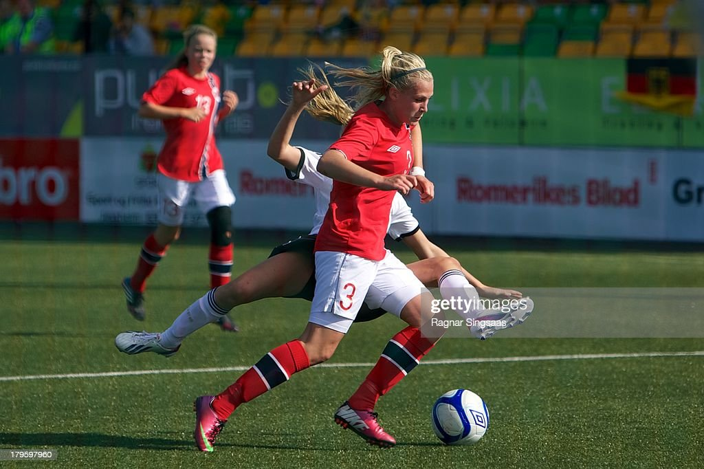 Ase Marit Lia Kasin of Norway in action during the Girls Friendly match between Norway U16 and Germany U16 at the UKI Arena on September 5, 2013 in Jessheim, Norway.