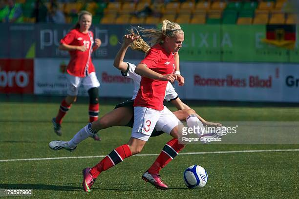 Ase Marit Lia Kasin of Norway in action during the Girls Friendly match between Norway U16 and Germany U16 at the UKI Arena on September 5 2013 in...