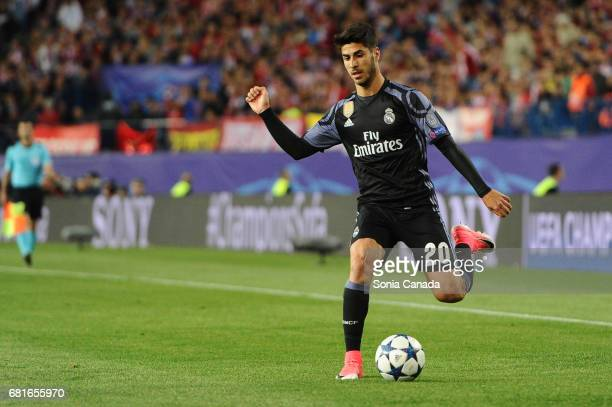 Asensio #20 of Real Madrid during the UEFA Champions League quarter final first leg match between Club Atletico de Madrid and Real Madrid CF at...