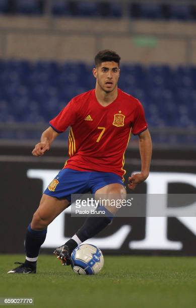 Asensio Marco of Spain in action during the international friendly match between Italy U21 and Spain U21 at Olimpico Stadium on March 27 2017 in Rome...