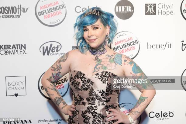 Ash Fortis attends the American Influencer Award at The Novo by Microsoft on November 18 2017 in Los Angeles California