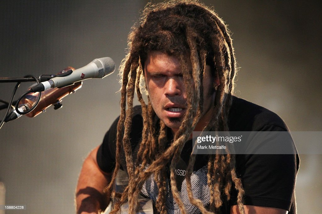 Ash Grunwald performs live on stage at The Falls Music and Arts Festival on December 30, 2012 in Lorne, Australia.