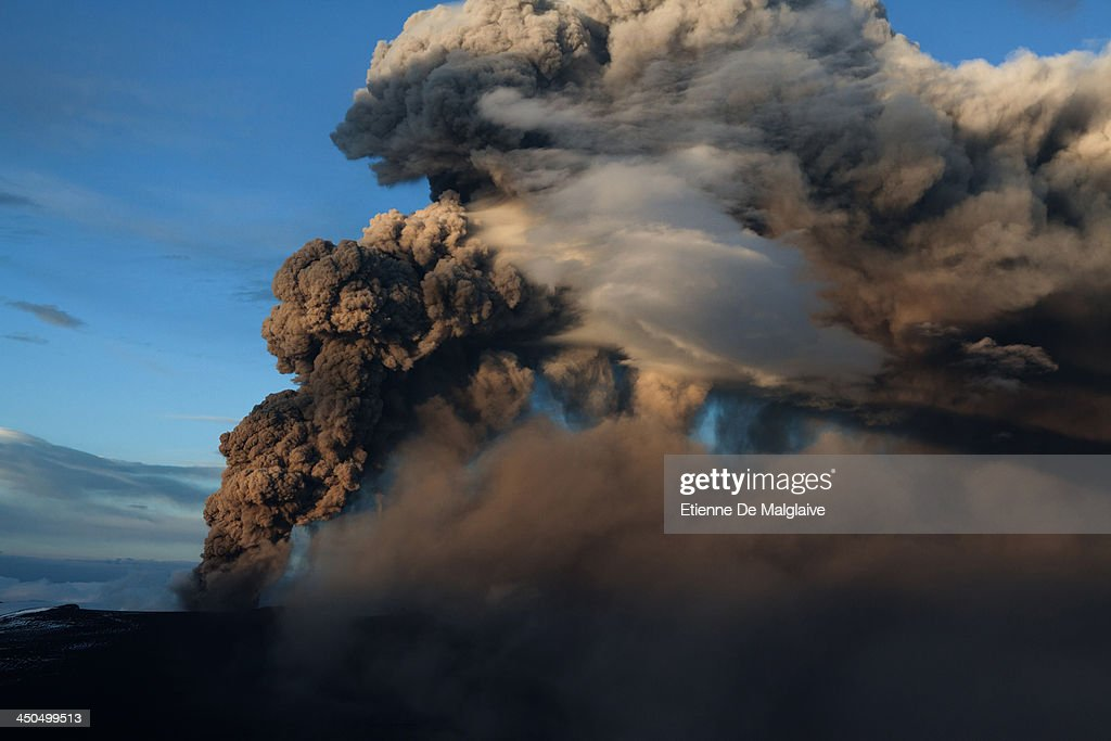 Ash plumes from Iceland's Eyjafjallajokull crater during it's eruption, spewing tephra and ashes that drift toward continental Europe on May 15, 2010 near Reykjavik, Iceland. On the previous day the ash cloud rose to an average of 6 km (20,000 ft) peaking at 9 km (26,000 ft) said Icelandic Meteorological Office and Institute of Earth Sciences, University of Iceland.