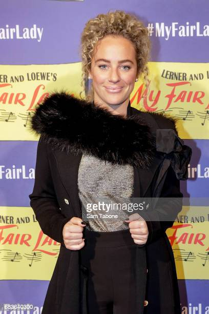 Ash Pollard arrives ahead of opening night of My Fair Lady at Regent Theatre on May 16 2017 in Melbourne Australia