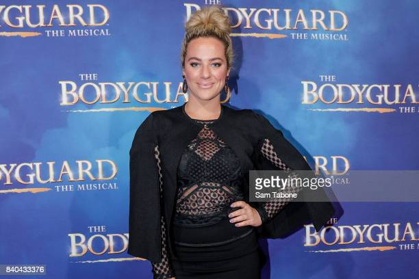 Ash Pollard during a production media call for The Bodyguard at Regent Theatre on August 29 2017 in Melbourne Australia