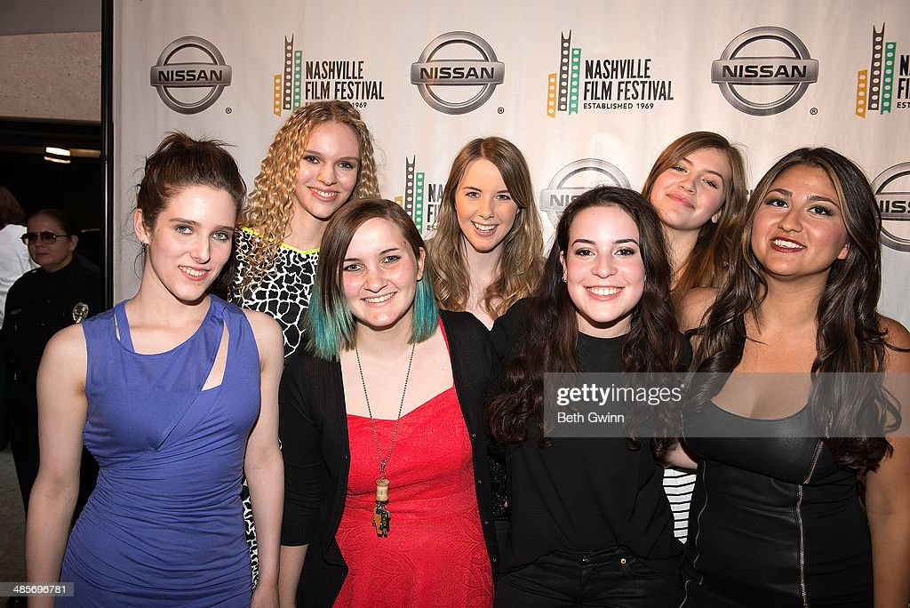 Ash Sheree, Toni Sheree, Zanny Nicholas, Lexie Caraway, Rachel Faith, Jacquelyn Girling, and Niki Black of the film 'Undiscovered Gyrl' attend day 3 of the 2014 Nashville Film Festival at Regal Green Hills on April 19, 2014 in Nashville, Tennessee.