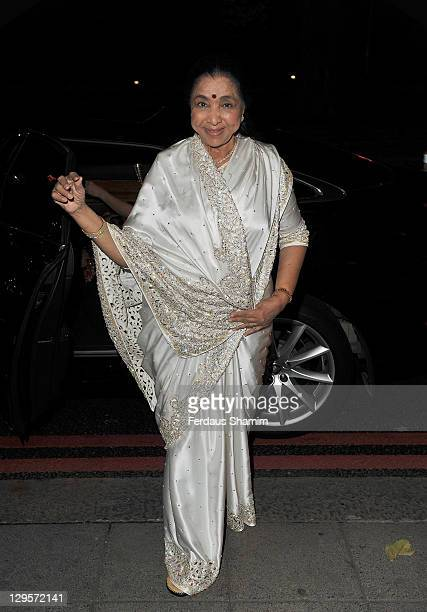Asha Bhosle attends The Asian Awards 2011 at Grosvenor House on October 18 2011 in London England