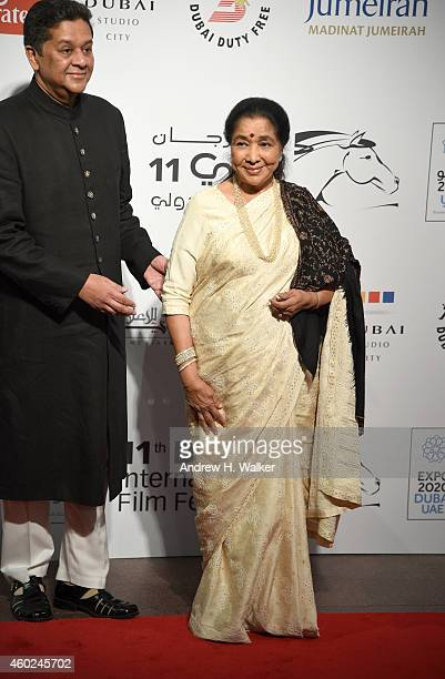 Asha Bhosle attends the Opening Night Gala during day one of the 11th Annual Dubai International Film Festival held at the Madinat Jumeriah Complex...