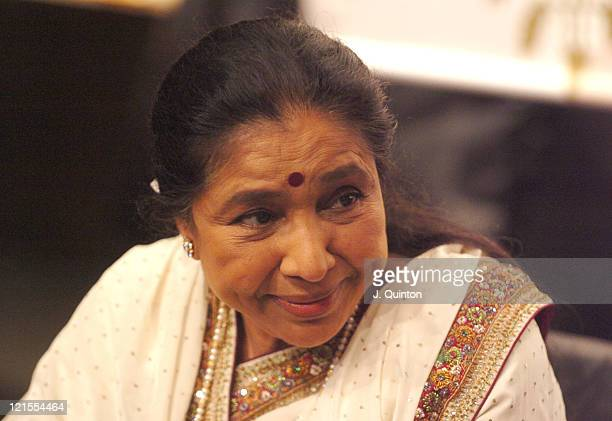 Asha Bhosle during MTV Asia Aid Artists Press Conference at Metropolitan Hotel in Bangkok Thailand