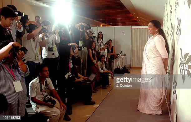 Asha Bhosle during MTV Asia Aid Press Room at Impact Arena in Bangkok Thailand