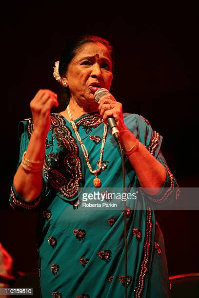 Asha Bhosle performs on stage at the Royal Festival Hall on March 16 2011 in London United Kingdom