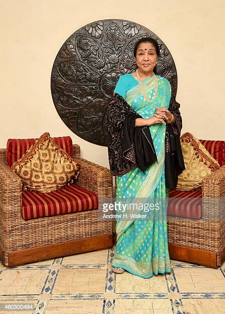 Asha Bhosle poses during a portrait session on day two of the 11th Annual Dubai International Film Festival held at the Madinat Jumeriah Complex on...