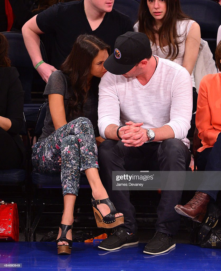 Asha Leo and Matt Harvey attend the Chicago Bulls vs New York Knicks game at Madison Square Garden on April 13, 2014 in New York City.
