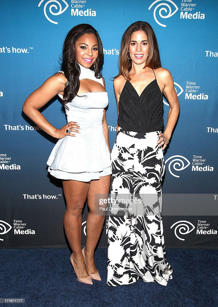 Ashanti and Ana Ortiz attend Time Warner Cable Media's 'View From The Top' Upfront at Jazz at Lincoln Center on June 27, 2013 in New York City.
