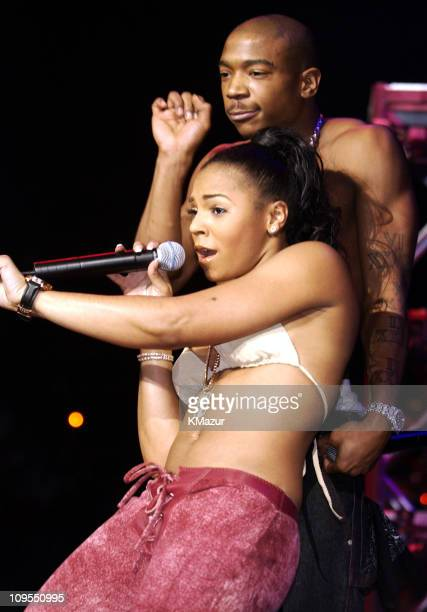 Ashanti and Ja Rule during Z100's Jingle Ball 2002 Show at Madison Square Garden in New York City New York United States