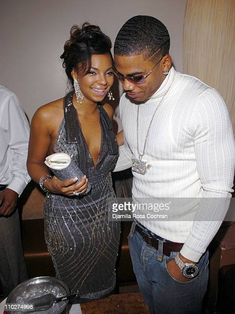 Ashanti and Nelly during Ashanti's 25th Birthday Surprise Party Inside at Glo in New York City New York United States