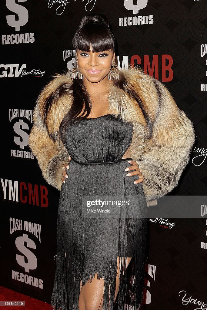 <a gi-track='captionPersonalityLinkClicked' href=/galleries/search?phrase=Ashanti&family=editorial&specificpeople=146300 ng-click='$event.stopPropagation()'>Ashanti</a> arrives at the Cash Money Records 4th annual pre-GRAMMY Awards party on February 9, 2013 in West Hollywood, California.