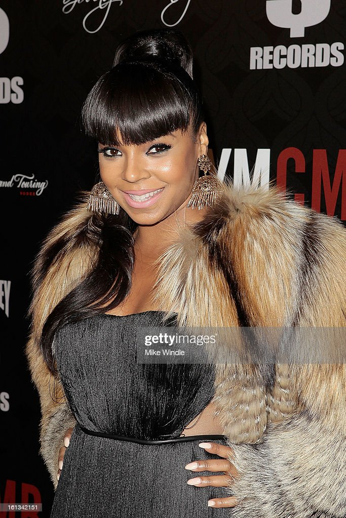 Ashanti arrives at the Cash Money Records 4th annual pre-GRAMMY Awards party on February 9, 2013 in West Hollywood, California.