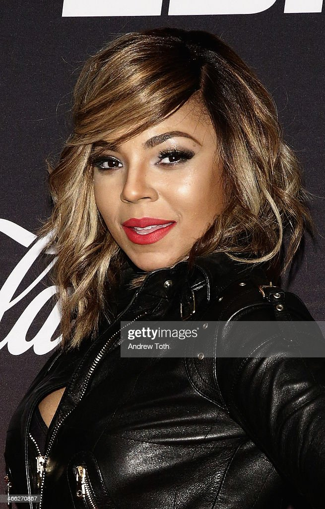 Ashanti attends 2014 ESPN The Party at Pier 36 on January 31 2014 in New York City