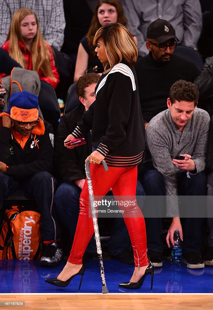 Ashanti attends the Portland Trail Blazers vs New York Knicks game at Madison Square Garden on February 5 2014 in New York City