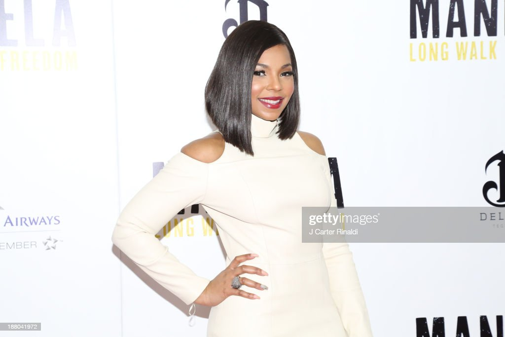 <a gi-track='captionPersonalityLinkClicked' href=/galleries/search?phrase=Ashanti&family=editorial&specificpeople=146300 ng-click='$event.stopPropagation()'>Ashanti</a> attends the screening of 'Mandela: Long Walk to Freedom' hosted by The Weinstein Company, Yucaipa Films & Videovision Entertainment, supported by Mercedes-Benz, South African Airways & DeLeon Tequila at Alice Tully Hall, Lincoln Center on November 14, 2013 in New York City.