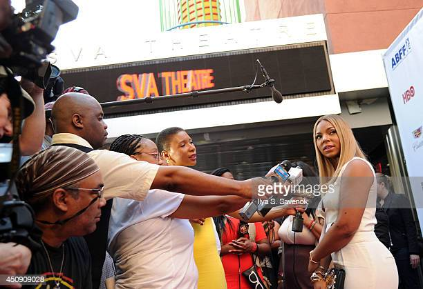 Ashanti attends the 'Think Like A Man Too' premiere during the 2014 American Black Film Festival at SVA Theater on June 19 2014 in New York City