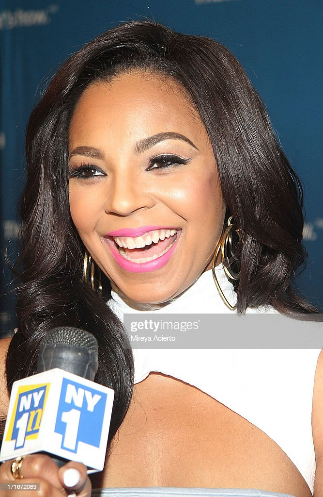 <a gi-track='captionPersonalityLinkClicked' href=/galleries/search?phrase=Ashanti&family=editorial&specificpeople=146300 ng-click='$event.stopPropagation()'>Ashanti</a> attends the Time Warner Cable 'View From The Top' Media Upfront at Frederick P. Rose Hall, Jazz at Lincoln Center on June 27, 2013 in New York City.