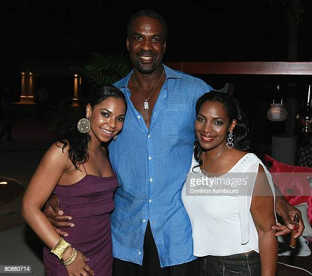 Ashanti Charles Oakley and Tina Douglas attend the 7th Annual Michael Jordan Celebrity Invitational Golf Tournament at Atlantis on January 16 2007 at...