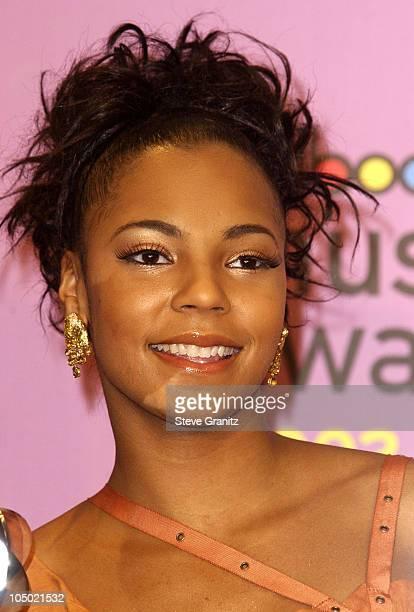 Ashanti during 2002 Billboard Music Awards Press Room at MGM Grand Arena in Las Vegas Nevada United States