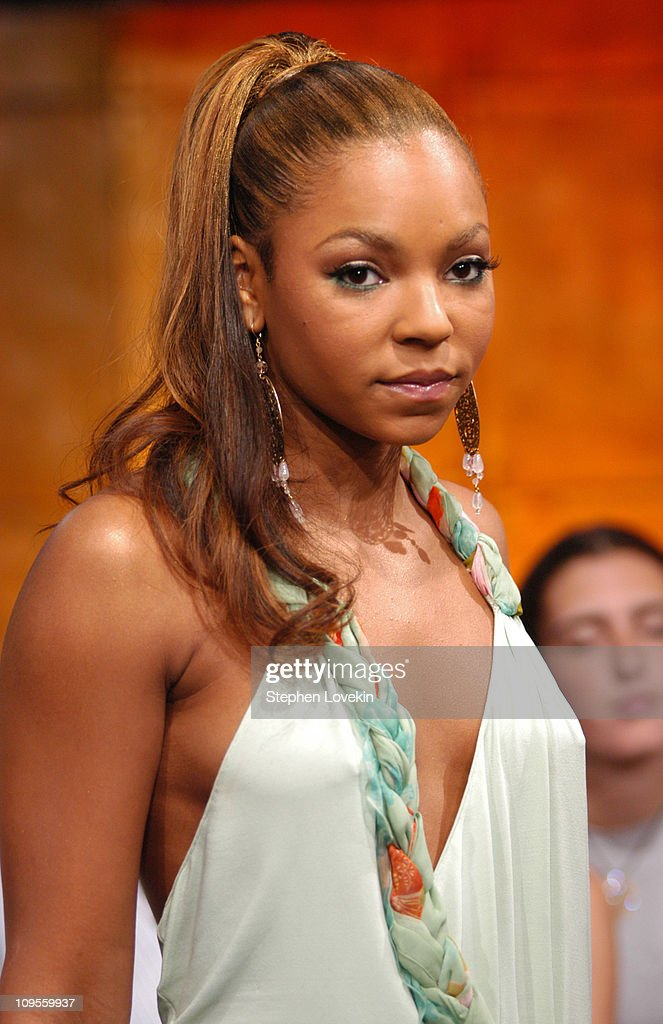 Ashanti during Andy Dick, Ashanti, and FeFe Dobson Visit MTV's 'TRL' - July 12, 2004 at MTV Studios in New York City, New York, United States.