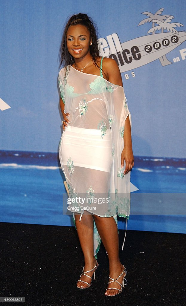 Ashanti during The 2002 Teen Choice Awards Press Room at Universal Amphitheater in Universal City California United States
