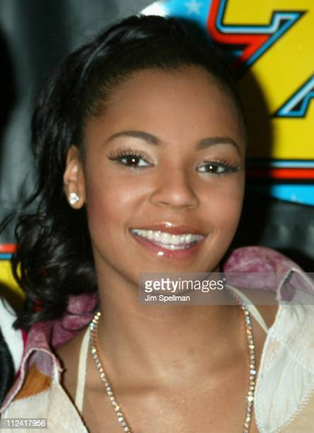 Ashanti during Z100's Jingle Ball 2002 Press Room at Madison Square Garden in New York City New York United States