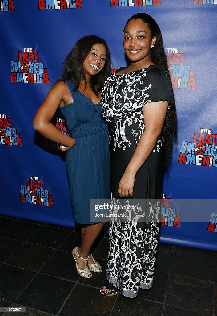 Ashanti J'Aria and Natalie Venetia Belcon attend 'The Last Smoker In America' Hosts 'Smoke-in/Smoke-Out' at The Westside Theatre on August 2, 2012 in New York City.