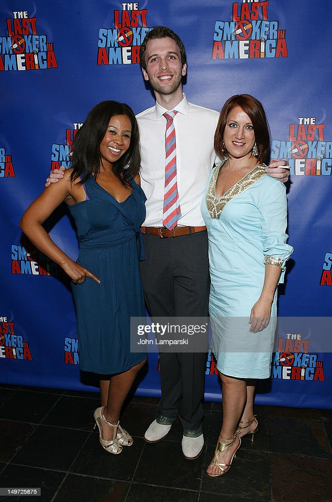 Ashanti J'Aria, John West and Katy Blake attend 'The Last Smoker In America' Hosts 'Smoke-in/Smoke-Out' at The Westside Theatre on August 2, 2012 in New York City.