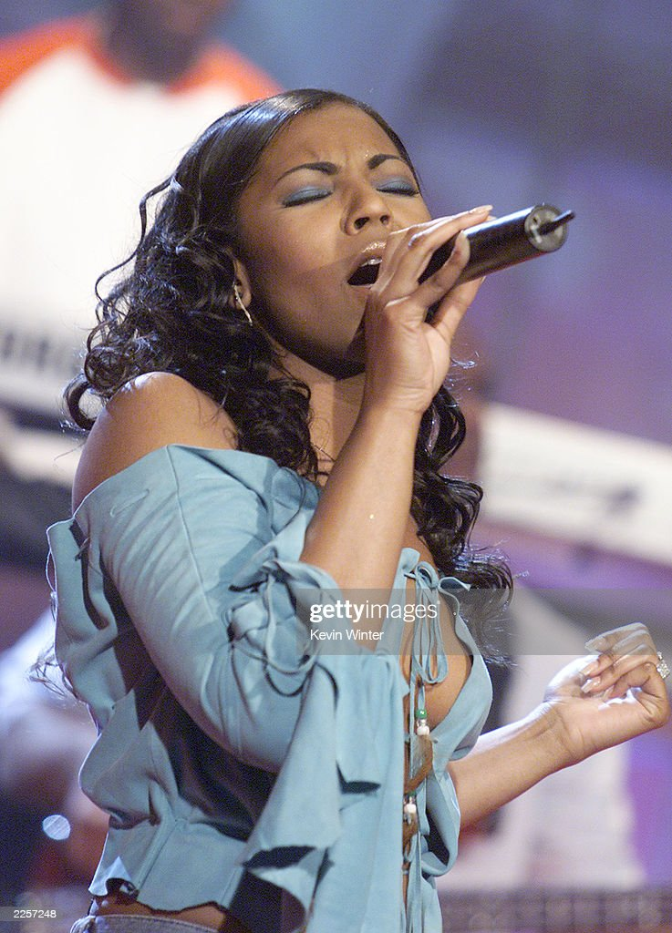 Ashanti on 'The Tonight Show with Jay Leno' at the NBC Studios in Burbank Ca Wednesday April 24 2002 Photo by Kevin Winter/ImageDirect