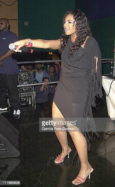 Ashanti performs during Ashanti's Vibe Party at OHM in New York City New York United States
