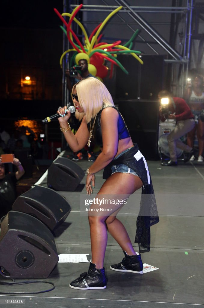 Ashanti performs during the On Da Reggae Tip 2014 concert event at Pier 97 on August 29 2014 in New York City