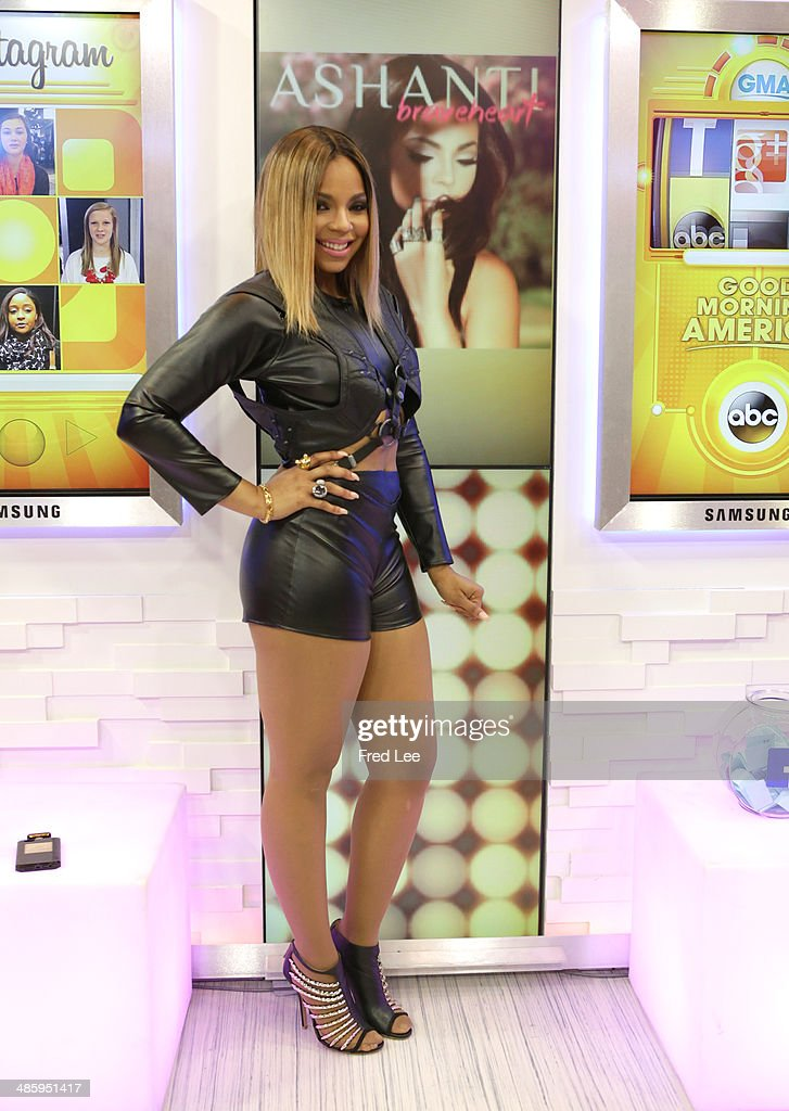 AMERICA Ashanti performs live on GOOD MORNING AMERICA 4/18/14 airing on the ABC Television Network