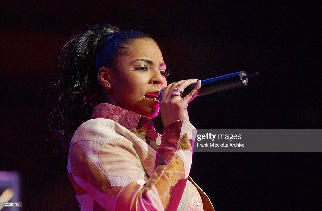 Ashanti performs on the 2002 Z100 Jingle Ball at Madison Square garden in New York City December 12 2002 Photo by Frank Micelotta/ImageDirect