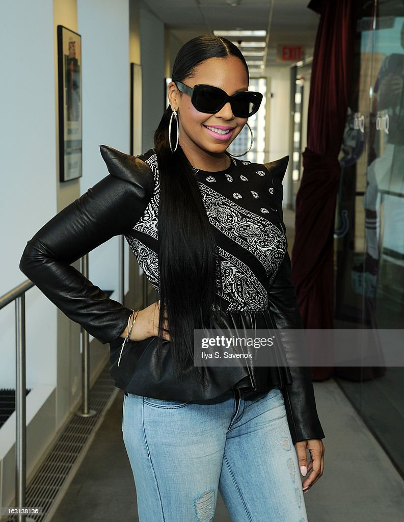 Ashanti visits the SiriusXM Studios on March 5, 2013 in New York City.