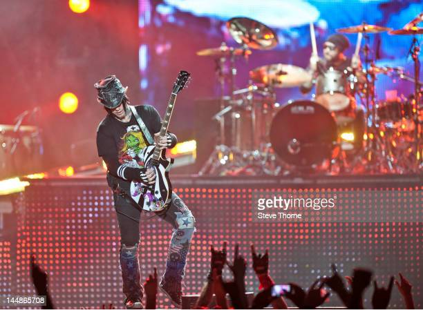 Ashba of Guns 'N' Roses performs at Nottingham Capital FM Arena on May 19 2012 in Nottingham England