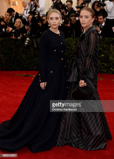 Ashely Olsen and MaryKate Olsen attend the 'Charles James Beyond Fashion' Costume Institute Gala at the Metropolitan Museum of Art on May 5 2014 in...