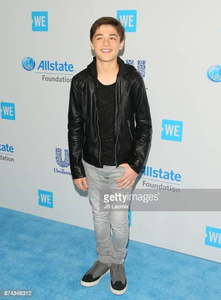 Asher Angel attends the We Day California 2017 on April 27 2017 in Inglewood California