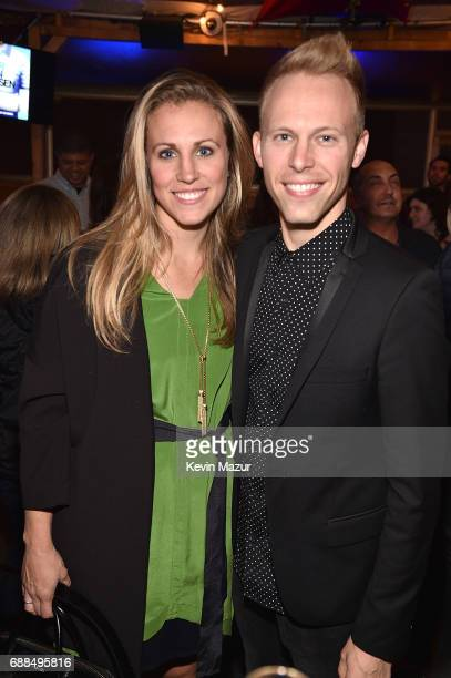 Asher Fogle Paul and Justin Paul music and lyrics attend Atlantic Records celebration of Alex Lacamoire Benj Pasek and Justin Paul at Haven Rooftop...