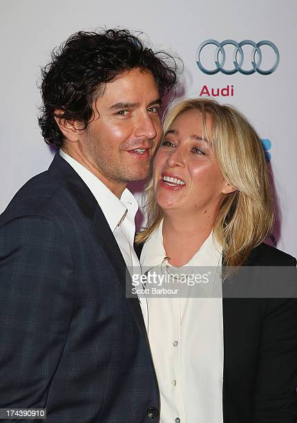 Asher Keddie and Vincent Fantauzzo arrive at the Australian premiere of 'I'm So Excited' on opening night of the Melbourn International Film Festival...