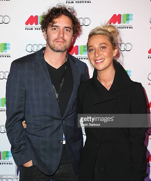 Asher Keddie and Vincent Fantauzzo attend the opening night of the 63rd Melbourne International Film Festival at Hamer Hall on July 31 2014 in...